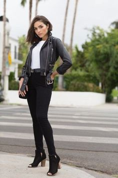 Leather Jackets at Every Price Point — Olivia Culpo — Official Website Olivia Culpo, Summer Outfits Women 20s, Trendy Outfits, Fashion Outfits, Womens Fashion, Leather Jacket Outfits, Leather Jackets, Celebrity Outfits, Pajamas Women