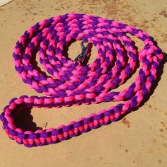 Paracord Round Braid 6 Foot Dog Leash with by EpicCustomCreations, $24.00