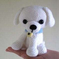вязаная игрушка собака амигуруми крючком