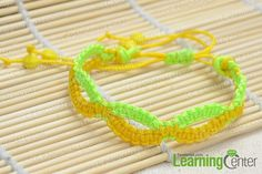 The finished infinity friendship bracelet pattern is like this:
