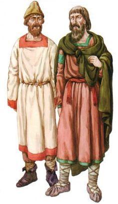 800 AD: Slavic peasant men's clothing