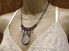 Ethnic bib necklace Funky Bohemian necklace
