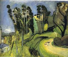 Montalban, Landscape via Henri Matisse, oil on canvas