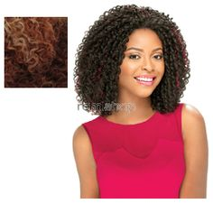 Empress Lace Front Edge Nina - Color SM613/30/4 - Synthetic (Curling Iron Safe) Baby Hair Lace Front Wig