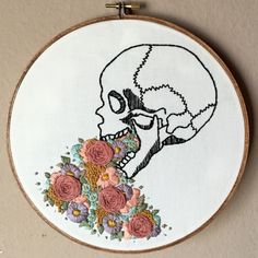 Anatomical Embroidery Illustrations of the Human & Animal Anatomies by Renee Rominger American artist Renee Rominger from Moonrise Whims comes from a creative family, where practicing every art form...