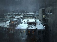 Artist Creates Oil Paintings That Look Like Vintage Cityscape Photos - Cube Breaker