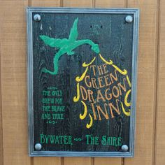 The Green Dragon Inn Sign   Lord of the Rings & by CurioObscurio, $49.00