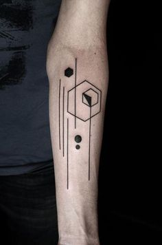 Los Tatuajes Inspirados en la Tecnología y el modernismo son aquellos diseños que se basan en figuras modernistas que se asemejan a conexiones o microchips