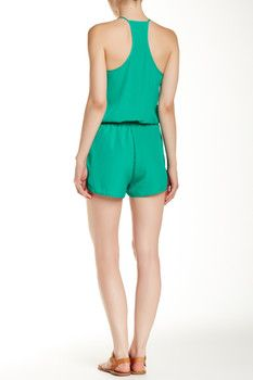 Collective Concepts Racerback Solid Romper