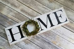 Beautiful rustic farmhouse style sign created from reclaimed wood. Set on a large shelf or mantle, or even hang on the wall with the included sawtooth hanger. Every sign is handcrafted and therfore each piece will vary slightly and have its own beauty. Measures: Width- 28 inches Length- 8 inches *sign is not freestanding *indoor use only