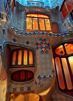 Casa Batllo, Barcelona, Spain. 1904-6. Antoni Gaudi…