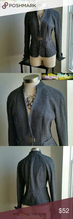 ANNE KLEIN. ....GORGEOUS BLACK /WHITE. ..BLAZER ...ADDING INFO SOON. Anne Klein Jackets & Coats Blazers