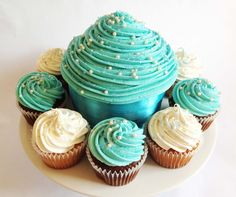 Blue Pearl Giant Cupcake