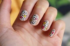 Colorful Leopard Nails by Totally Elsa