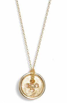 Poppy Finch Cute as a Button Short Pendant Necklace