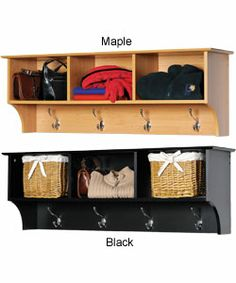 @Overstock.com - Entryway Cubbie Shelf - Keep your gloves, hats, coats and jackets together where you need them with the Entryway Cubbie Shelf. Perfect for any front hallway, mudroom or home office, this cubbie shelf's three compartments have room for everything from mittens to schoolbooks.  http://www.overstock.com/Home-Garden/Entryway-Cubbie-Shelf/848102/product.html?CID=214117 $86.18