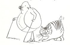 Mr Lear and Foss  | drawing of the artist and his cat | Edward Lear