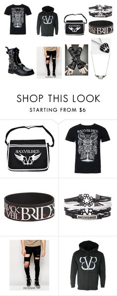 """Black Veil Brides"" by masky-666 ❤ liked on Polyvore featuring Ralph Lauren, Reclaimed Vintage, men's fashion and menswear"