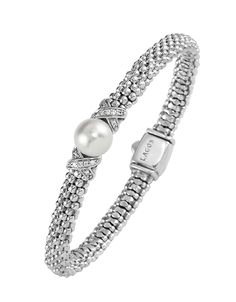 Pearl and Diamond Bracelet from the Luna collection | LAGOS Jewelry. Available at Hingham Jewelers!