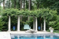 Love this quiet spot behind the diving board!