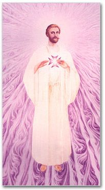 Saint Germain and the Violet Flame - I AM the Light of the Heart  Shining in the darkness of being And changing all into the golden treasury Of the Mind of Christ.  I AM projecting my Love Out into the world To erase all errors And break down all barriers.  I AM the power of infinite Love, Amplifying itself Until it is victorious, World without end!  Adapted from The Masters and Their Retreats