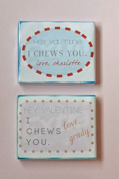 design dump: TOTALLY last minute valentines treats