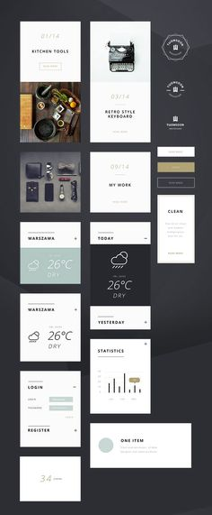 Another one where conservative color combined with photography makes an excellent vintage look!