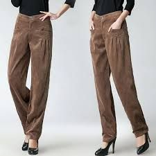 Cheap corduroy trousers, Buy Quality high waist wide leg directly from China wide leg pants Suppliers: New Women Autumn Winter Corduroy Pants High Waist Wide Leg Pants Corduroy Trousers Big Yards Corduroy Pants, Harem Pants, Trousers, New Woman, Wide Leg Pants, Parachute Pants, Cool Things To Buy, Sewing Patterns, Clothes For Women