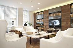 Molins Interiors // arquitectura interior - interiorismo - decoración - salón - sofá - butaca - sillón - mesa de centro - librería