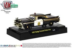 1957 Dodge Coronet Police Car M2 Machines 1:64 Scale DETROIT CRUISERS Re 2 CHASE
