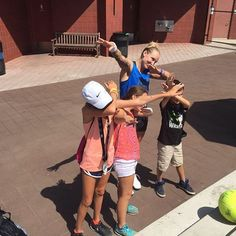 #Dab #Dablicious with some tennis ready fans #bethanietakeover  #usopen