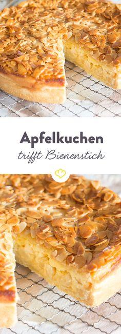 Doppelt lecker: Apfelkuchen trifft Bienenstich