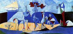 Lust for life (Pastorale), 1946, Pablo Picasso    Size: 120x250 cm