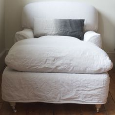 crunchy slipcover and ombre pillow
