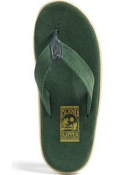 5618ff845872 Free shipping and returns on ISLAND Slipper  Classic  Suede Flip Flop  (Unisex)