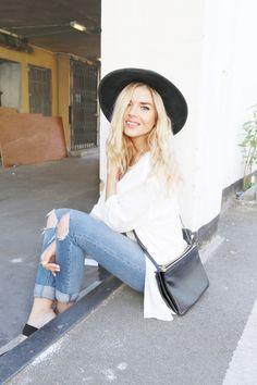 http://isabellathordsen.dk/  - Isabella Thordsen wearing ripped asos jeans. Find links to everything on my blog.