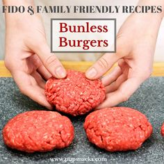 Unless Burgers: This recipe allows you to make some healthy options for your dog, as well as for the rest of the family–everyone will have happy tummies!