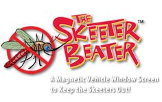 The Skeeter Beater---This is neat.  They sell magnetic mesh screens for vehicle windows and the mesh by the yard for your own DIY.  Check out their video.
