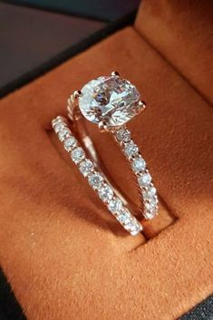 2.Ct Brilliant White Moissanite Diamond Engagement Ring Set 14K Rose Gold Over | Jewelry & Watches, Engagement & Wedding, Engagement Rings | eBay!