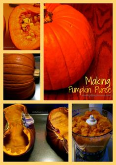 How to make your own homemade pumpkin puree.  A must pin!