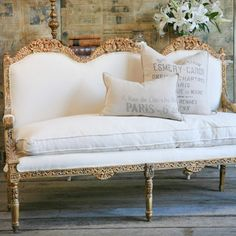 One of a Kind Louis XVI Vintage Settee @LaylaGrayce