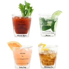Dot & Bo Cocktail King Drinking Glasses -Set of 4 found on Polyvore featuring home, kitchen & dining and drinkware