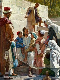 Jesus With Children - Christian Wall Art// Artist is Harry Anderson. He was a day Adventist & was faithful to the Lord all his life. Spiritual Paintings, Religious Paintings, Religious Art, Images Of Christ, Pictures Of Jesus Christ, Christian Images, Christian Wall Art, Christian Quotes, Arte Lds