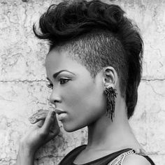 22 Easy Short Hairstyles for African American Women African American Hairstyles . - ShavedHairstyles - 22 Easy Short Hairstyles for African American Women African American Hairstyles … – Natural Hair Styles For Black Women, Short Hair Styles Easy, Short Hair Cuts, Curly Hair Styles, Pixie Cuts, Mohawk Styles, Black Women Hairstyles, Cool Hairstyles, Natural Hairstyles