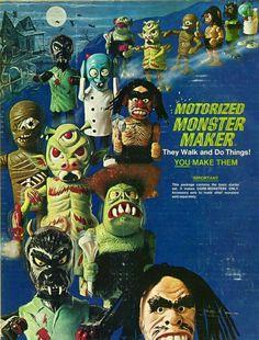 Vintage Topper Toys Motorized Monster Maker Playset 6701 Lightly Used! Monster Toys, Monster Art, Monster Games, Vintage Games, Vintage Toys, Antique Toys, Spooky Games, Famous Monsters, Fantasy Films