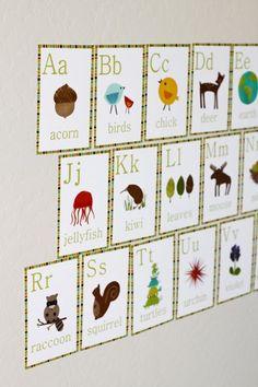 Nature Alphabet Wall Cards