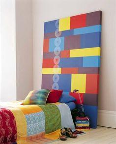 Colorful teen headboard