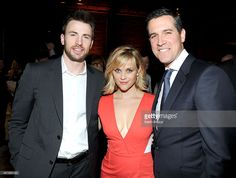 Actor Chris Evans and co-hosts Reese Witherspoon and Jim Toth attend Hollywood Stands Up To Cancer Event with contributors American Cancer Society and Bristol Myers Squibb hosted by Jim Toth and Reese Witherspoon and the Entertainment Industry Foundation on Tuesday, January 28, 2014 in Culver City, California.