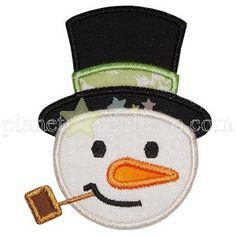 Snowman Head Applique