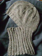 Knitted Helmet Liner pattern by Linda Swinford worsted weight helmet liner Cast On Knitting, Free Knitting, Baby Knitting, Crochet Baby, Knit Crochet, Crochet Hooded Scarf, Knitting Patterns, Crochet Patterns, Helmet Liner